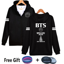 New 2017 Full Name BTS Hoodies For Women Hip Hop Bangtan Boys Sweatshirt Kpop Fleece Streetwear Clothing SUGA V JUNG KOOK JIMIN