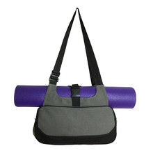 Best Deal Multifunctional Yoga Mat Canvas Bag Backpack Shoulder Messenger Sport Bag For Women Fitness Duffel Clothes Gym Bag(China)