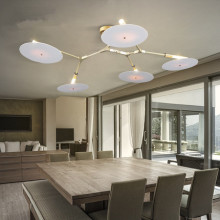 Modern Lustres Zino Alloy Gold LED Ceiling Pendant Lamp Plate Spinning Pendant Light E27 for decor Fixture luminaire Home Lamp
