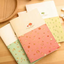 Cute Creative Soft Surface Notebook Agenda 2017 Material Sketchbook Diary School Supplies 008(China)