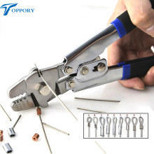 Toppory Stainless Steel Fishing Crimp multifunctional fishing crimping Pliers for Steel Wire & Rigs sea Fishing Crimper Tool(China)
