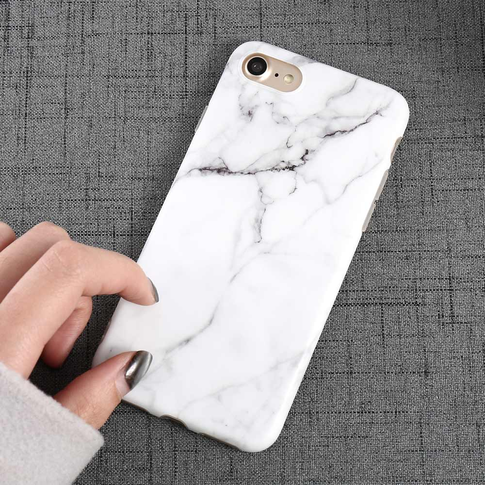 Luxury Marble Pattern i 7 Phone Cover Case For iPhone 7 Plus Soft TPU Back Cover For iPhone7 Plus Black Phone Accessories Coque (14)