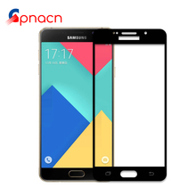 Full screen cover Tempered Glass For samsung galaxy A3 A5 A7 2016 2017 A310F A510F A710F A320F A520F A720F 0.26mm 2.5D glass(China)