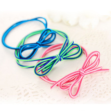10pcs Multi-color Elastic bands Patchwork Bow Ponytail Holders Hair Accessories Cute Girls Women Rubber Bands Tie Gum(China)