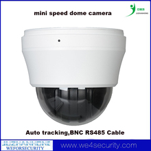 10X optical zoom Indoor outdoor mini speed dome camera,PTZ Camera CCD 700TVL AUTO Iris,Auto tracking,BNC RS485 Cable