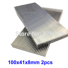 2pcs 100x41x8mm Extruded Aluminum heatsink IC Chip VGA Memory Routers Northbridge Southbridge CMOS radiator(China)