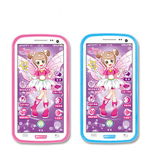 Hot Sale Kawaii Kids Toys Phones Pink Blue Touch Screen Smart Phone Early Learning Education Story Cellphones Toy(China)