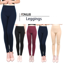 FDNWB - Autumn and Winter Cotton Trousers Plus Velvet Leggings Thick Warm Outer Stretch Pants Fitness clothing womens leggings