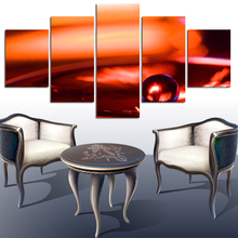 5 Piece Hot Sell Modern Wall Art Painting New York Orange Scenery Home Decorative Art Picture Painting On Canvas Prints(China)