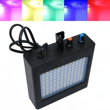 Mini Black Sound Control Auto 108led RGB White Disco Party DJ Bar Light LED Strobo Music Show Projector Stage Lighting Effect(China)