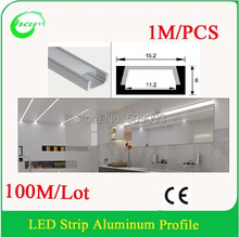 Recessed Aluminum LED Profile for the Ceiling led aluminum Bar for Wall lighting  Length can be customized