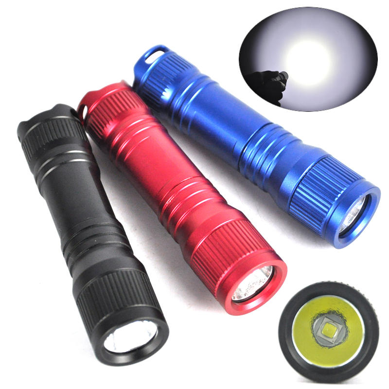Mini Professional Underwater 150M Diving Flashlight  Elastic Switch Led Scube Diver waterproof flashlight + lanyard ring<br><br>Aliexpress