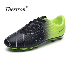 Thestron Boys Soccer Cleats Anti-Slip Youth Soccer Cleat Comfortable Football Turf Trainers Super Light Outdoor Shoes Men(China)