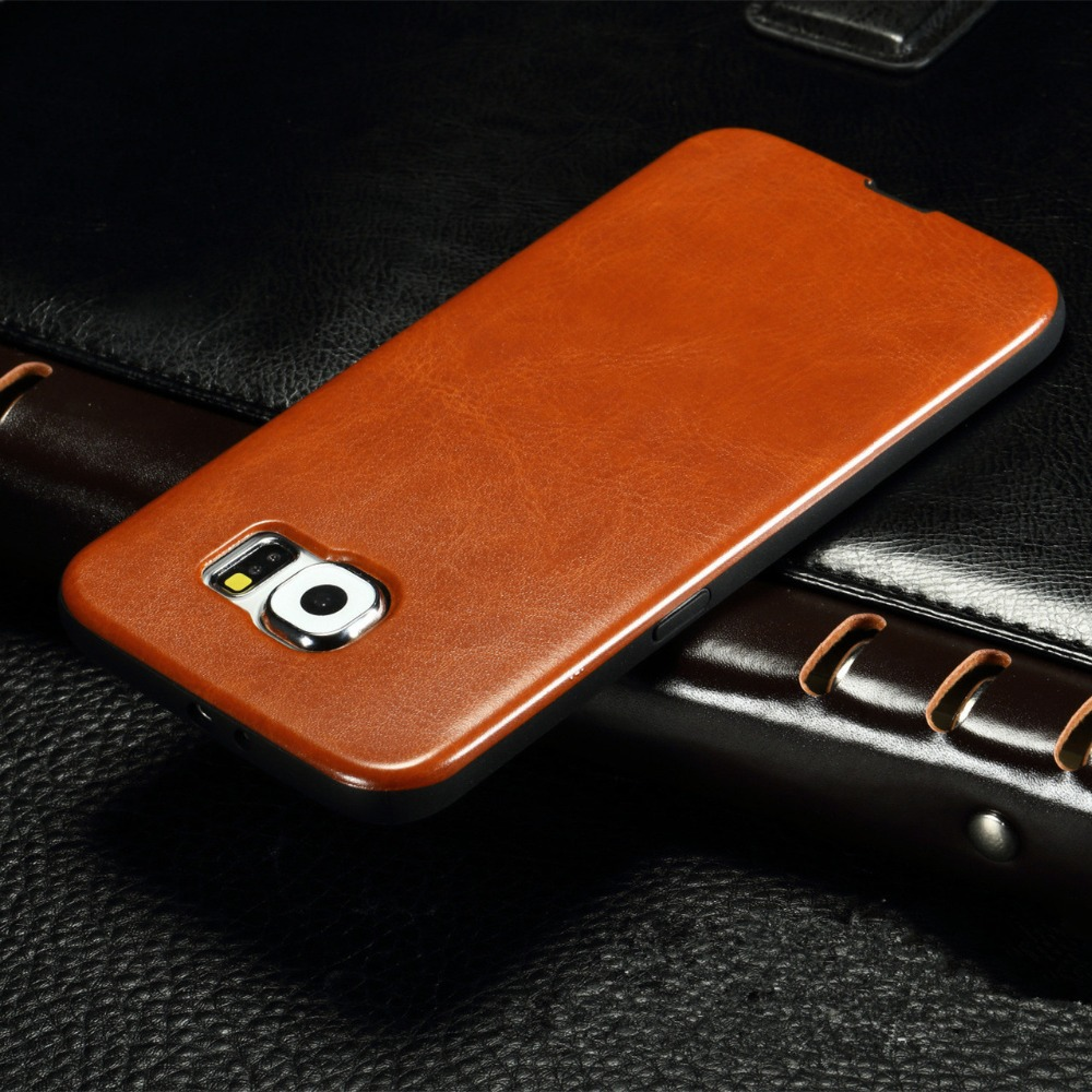New Luxury Leather Pattern Phone Case Samsung Galaxy S3 s4 S5 S6 S7 / S6 edge S7 edge Ultra thin Soft TPU Comfort Back Cover