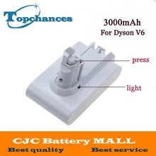 High Quality 21.6V 3000mAh Li-ion Replacement Battery For Dyson V6 Mattress Cord-Free Handheld Vacuum Cleaner (White Color)