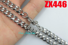 Buy 6.8mm rounded corners Curb Cuban chain stainless steel necklace fashion men's women jewelry chains 20pcs ZX446 for $50.00 in AliExpress store