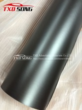 1.52X20M(5FTX65FT) Metallic matt chrome black film with air free bubbles by free shipping