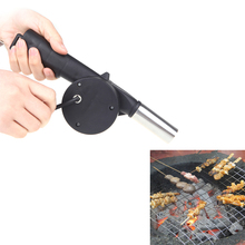 BBQ Fan Air Blower Hand Crank Powered for Barbecue Fire Picnic Camping Outdoor Stove
