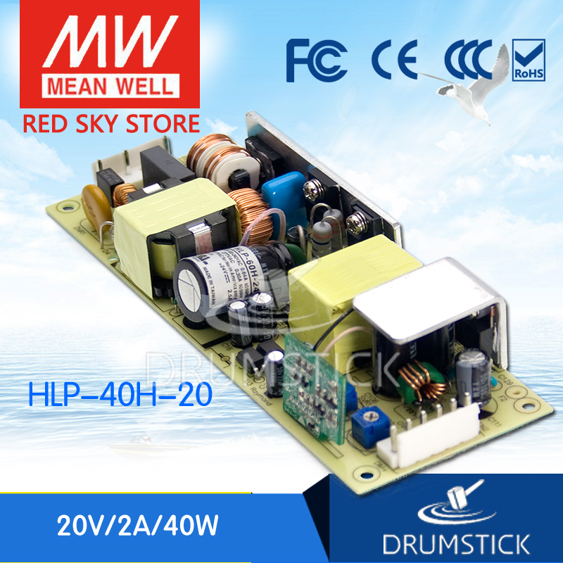 MEAN WELL HLP-40H-20 20V 2A meanwell HLP-40H 20V 40W Single Output LED Driver Power Supply<br>