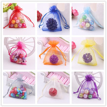 50 Pcs Jewelry Packaging Drawable Organza Bags 7x9cm,Gift Bags & Pouches,Packing Bags Candy Bags Mariage Valentines Day.B(China)