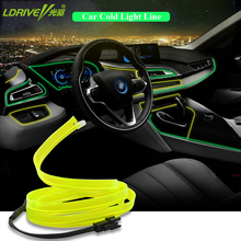 Car Styling 1 Meter DIY Decorative Dashboard Console Door Atmosphere Lamps Car Interior Light Car Ambient Light Cold Light Line