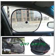 1 pair Car Sun Shade Mesh Visor Shield Screen Car Sun Shade Rear Window Foil Sunshade Cover Film UV Protective For car styling(China)