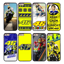 Coque VALENTINO ROSSI VR46 Fundas Phone Cases for iPhone X 8 8Plus 7 5S 6 6S 7 Plus SE 5C 5 4S 4 Case for iPod Touch 6 5 Cover.(China)
