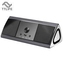 TTLIFE New Stereo Bluetooth Speaker Portable Wireless&3.5mm AUX-In Audio Bass HiFi Sound Best Loudspeaker with TF Card/TWS(China)