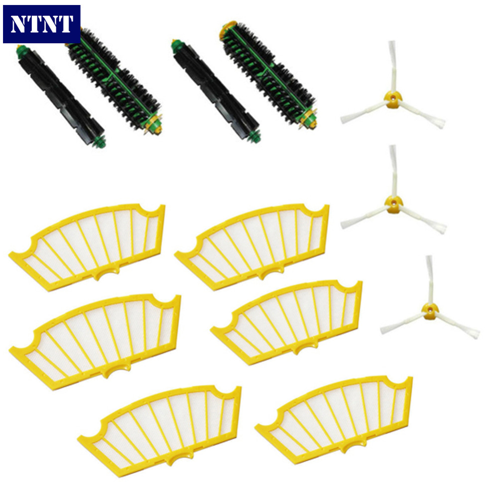 NTNT NEW Side Brush Filter Kit 3 Armed for iRobot Roomba 500 Series 510 530 560 570 580<br>