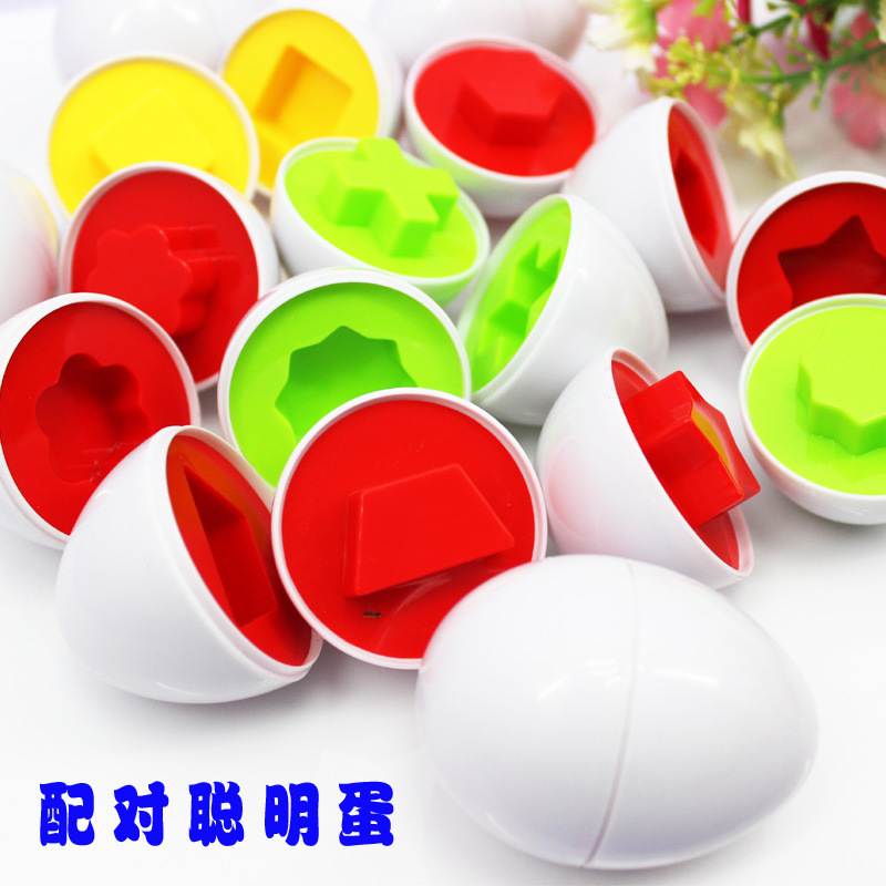6Pcs/set Brand New Learning Education Toys Mixed Shape Wise Pretend Puzzle Smart Eggs Baby Kid Learning Kitchen Toys Tool 1