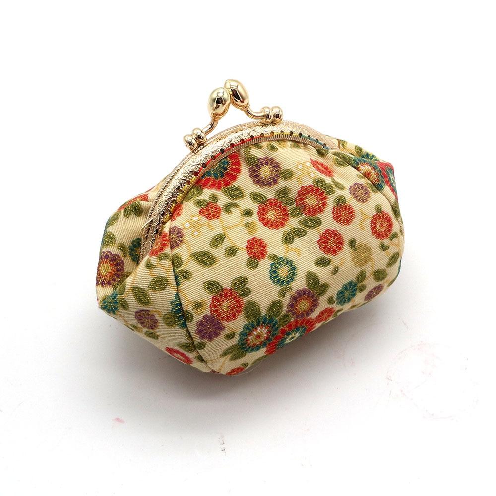Mini Coin Purse Kiss Lock Girls  Change Purse Hasp Wallet women lady flower bags  (10)