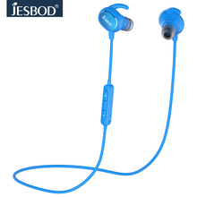 JESBOD QY19 Bluetooth 4.1 Headphones Wireless Headsets Sport English Voice Earbuds For all Smartphones Earphones with Mic