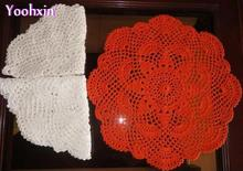 HOT cotton kids placemat cup coaster mug holder kitchen Accessory handmade table place mat cloth lace round Crochet doilies pad