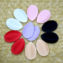 50 PAIRS/LOT DROP-SHAPE Sponge Foam BUST Pad for Bra Cups Chest Interlinings Linings SEWING ACCESSORIES(China)