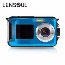 lensoul lensoul 2.7inch TFT Digital Camera Waterproof 24MP MAX 1080P Double Screen 16x Digital Zoom Camcorder Wholesale
