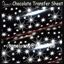 50pcs 32x21cm Shiny Chocolate Transfer Sheet,DIY Chocolate Mold,Chocolate Printed Sheet,Chocolate Decoration,Cake Decoration(China)