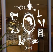 Beauty Salon Vinyl Wall Decal Clothes Shop Cosmetics Shop Hair Salon Mural Wall Sticker Nail Shop Bedroom Decorative Decoration