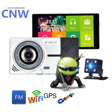"CNW 5.0"" Android 4.4.2 Car dvrs Camera Rearview Mirror GPS Navigation Rear view Dash Vehicle Car DVR Video Recorder Dual Camera"