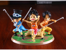 One Piece Figure Ace Luffy Sabo Action Figure One Piece Childhood  Action Figure PVC Cartoon Figurine One Piece Toys Juguetes