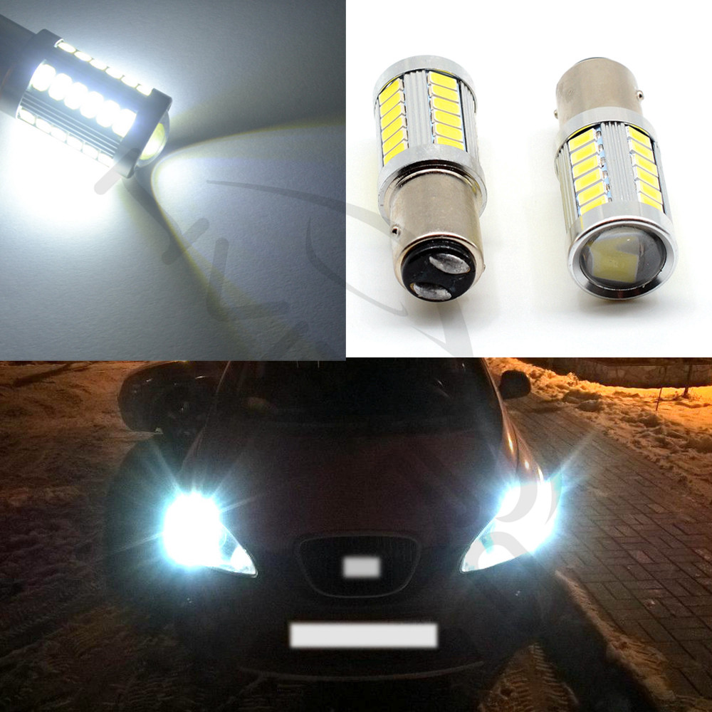 Hviero White Red Yellow 1156 Ba15s 1157 BAY15D P21 5W 33SMD 5630 5730 LED Car Brake Lights Tail Lamps Turn Signal Auto Rear Reverse Bulbs DRL