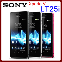 "Sony Xperia V Original Unlocked Sony LT25i Cell phone 4.3"" Android 4.0 Dual core 3G WIFI GPS 1GB RAM 8GB ROM Free shipping"