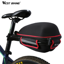 WEST BIKING Bike Rear Bag Reflective Waterproof Rain Cover Portable Mountain Road Bike Cycling Tail Extending Saddle Bicycle Bag
