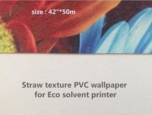 "240gsm 42""*50m Straw pattern wallpaper roll for digital printing"