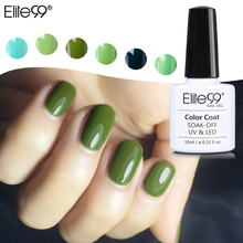 Elite99 10ml Nail Varnish 2017 New Fashion Green Perfect Pure Colors Effect UV LED Soak off Gel Polish Nail Color Lacquer