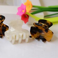 2 pieces/lot 3.0cm Small Mini Size High-quality Cellulose Acetate Hair Clip Exquisite Acrylic Hair Claw Crab Clamp HC653