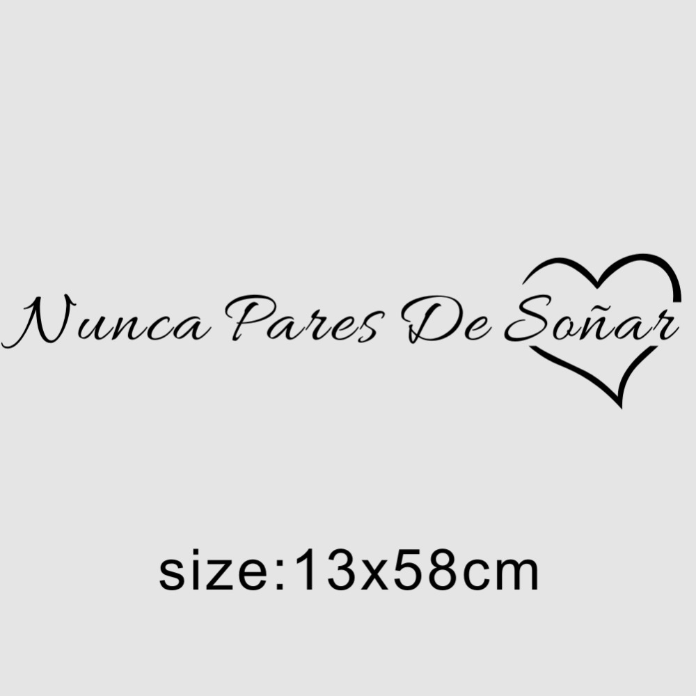 HTB13slobcnI8KJjSspeq6AwIpXaZ Spanish Quotes Never Stop Dreaming Wall Sticker