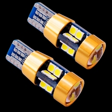 2PCS New High Quality T10 19 SMD 3030 LED W5W 2825 192 921 168 501 White Auto Wedge Lamp Car Marker Light Dome Reading Bulb 12V