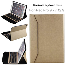 For iPad Pro 9.7 High-Quality Ultra thin Wireless Bluetooth Aluminum Keyboard Case cover For iPad Pro 12.9 + Gift