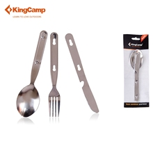 KingCamp Camping Cookware Outdoor Stainless Steel Mess Kit-Spoon Fork & Knife Set for Camping & Trekking & Hiking Dinner Set(China)
