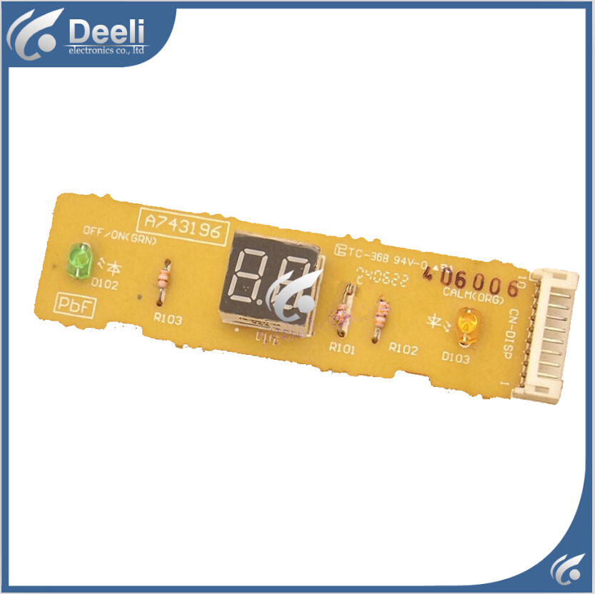 95% new good working for Panasonic air conditioning board A743196 Remote control panel display board<br>